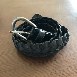 AMERICAN EAGLE OUTFITTERS black braided belt